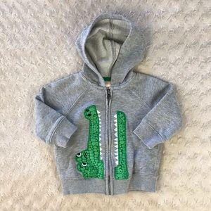 Gymboree Alligator Hooded Sweatshirt Jacket 6-12M
